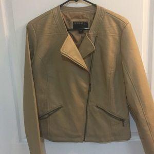 BERNARDO Women's Taupe Leather look Jacket sz M